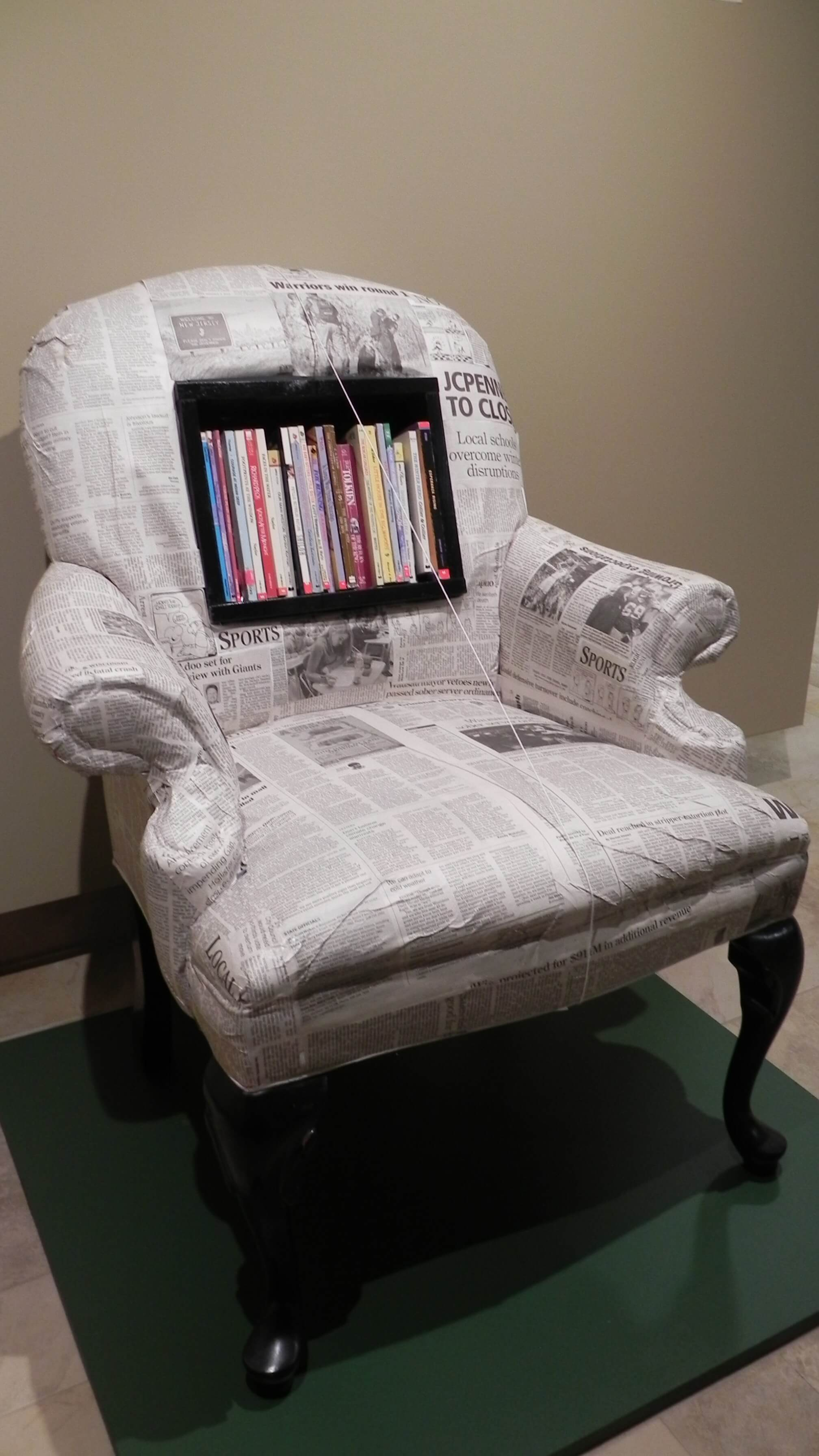 Art Speaks chair with books
