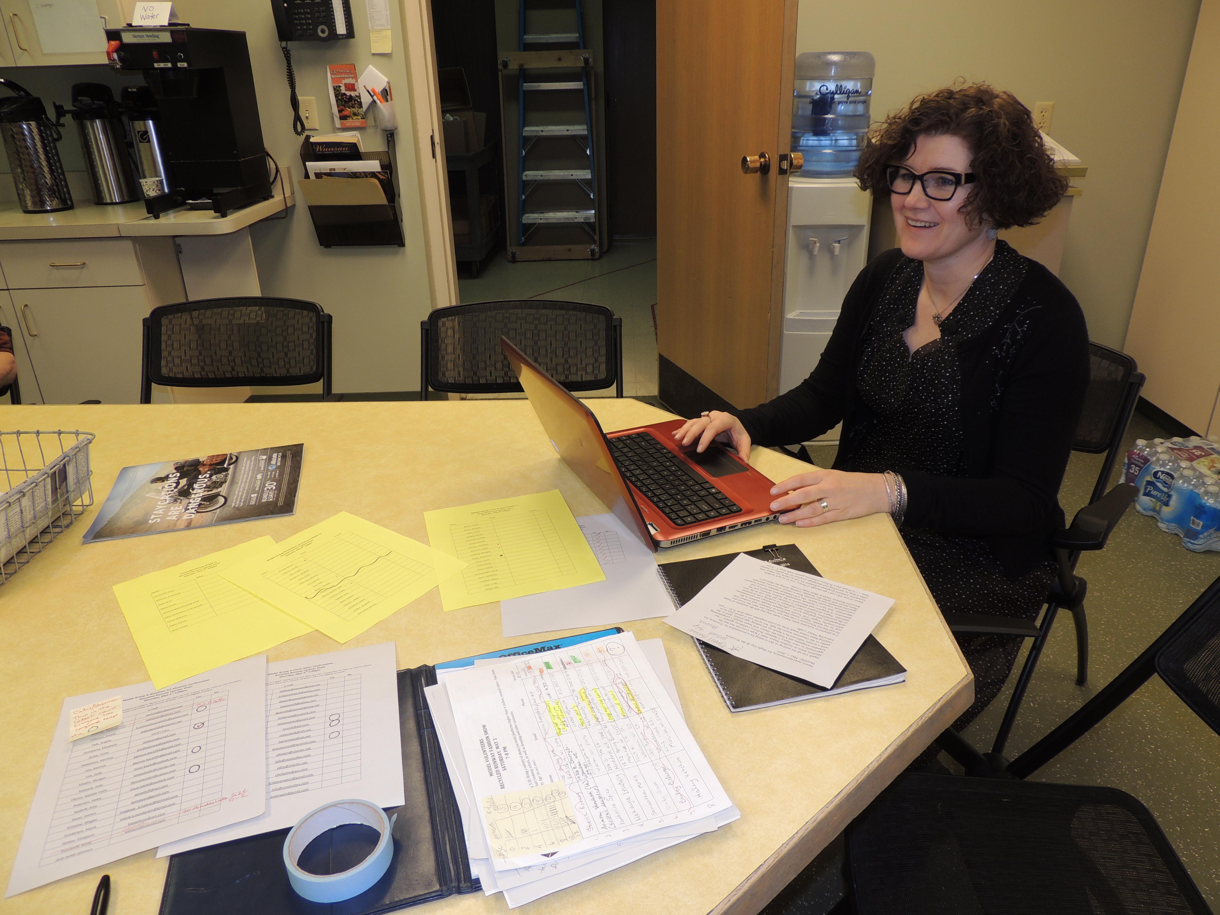 Nancy Judd behind the scenes.