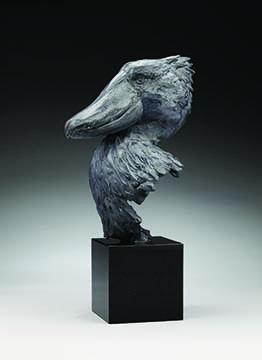 """""""Shoebill"""" sculpture by Daniel Glanz"""