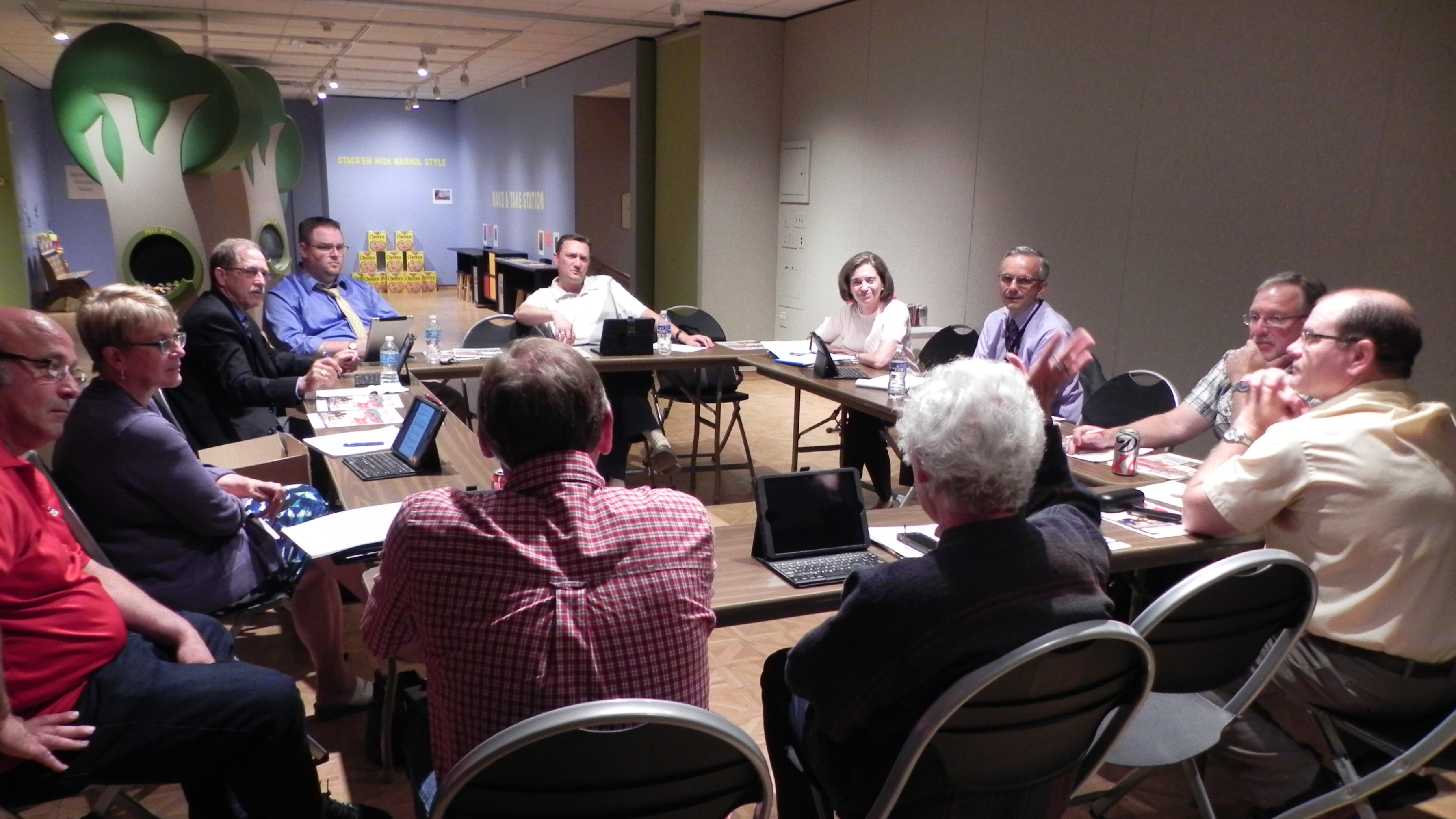 Museum director Kathy Kelsey Foley meets with Marathon County Executive Committee members