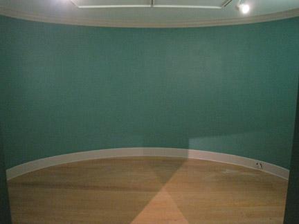 blank oval-gallery wall
