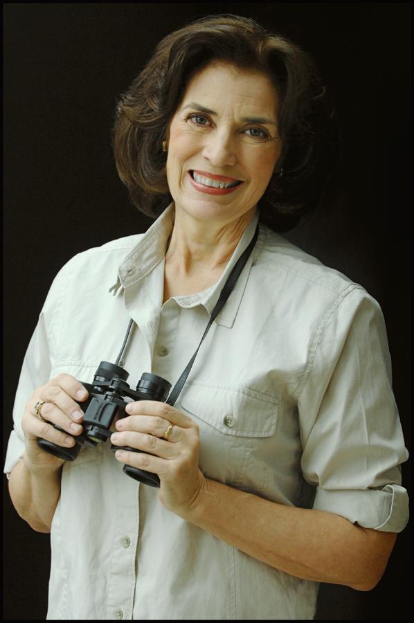 Karen De Mauro photo with binoculars