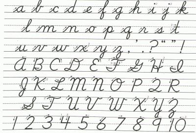 cursive writing practice letters