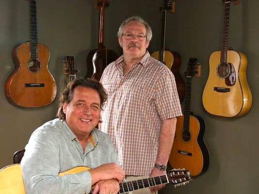 Mountain Fret Works owner Paul Szmanda and manager Wes Krumplitsch