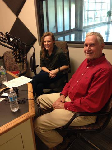 Museum educator Catie Anderson and ecologist Alan Haney in the Wausau WPR studio.