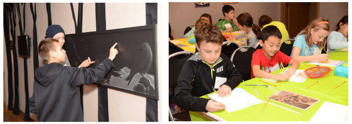 Art Cluster Students Visit and Create Artwork, Woodson Art Museum