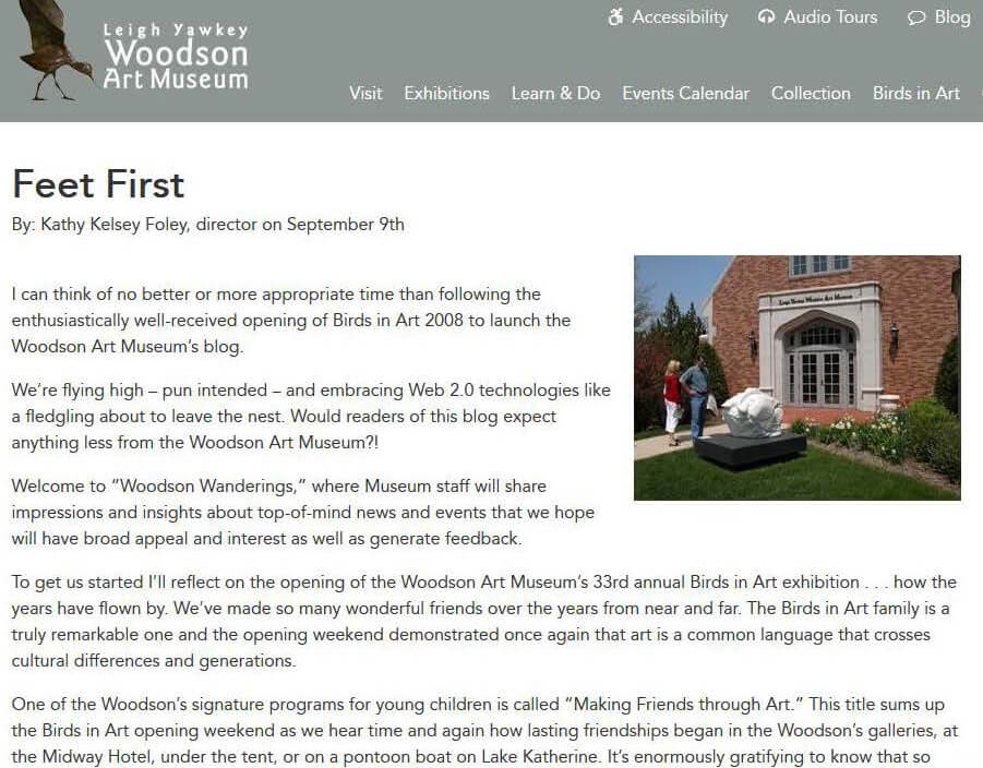 Wandering with the Woodson | Leigh Yawkey Woodson Art Museum